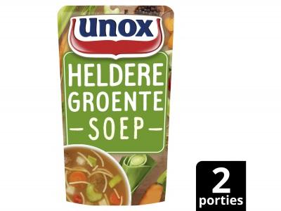 Soep in zak speciaal heldere groentesoep product foto