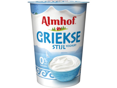 Griekse styl yoghurt 0% vet product foto