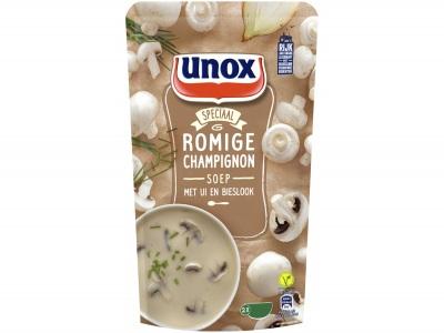 Soep in zak speciaal romige champignon met ui en bieslook product foto