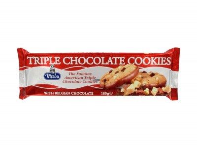 Triple chocolate cookies product foto