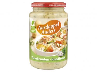 Aardappel anders tuinkruiden knoflook product foto
