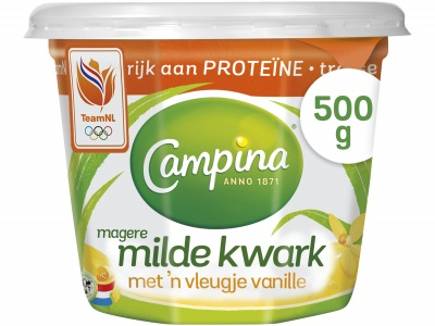 Magere milde kwark vanille product foto