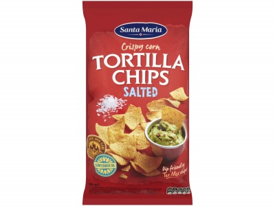 Tortilla chips salted product foto