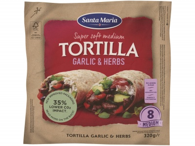Tortilla garlic & herbs medium product foto