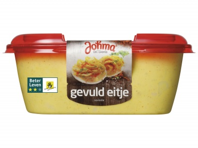 Gevuld eitje salade product foto