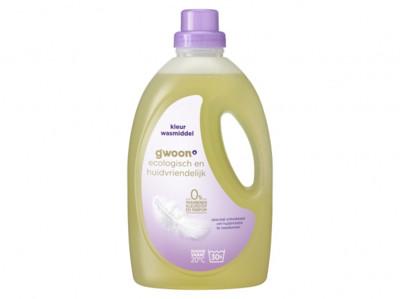 Wasmiddel ecologisch kleur vloeibaar product foto