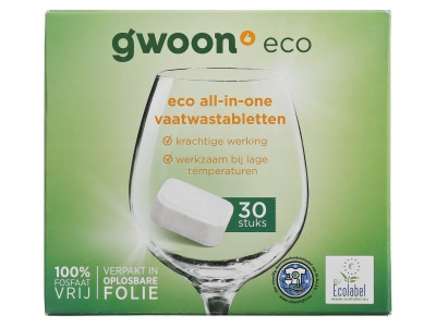 Vaatwastabletten eco all in one product foto
