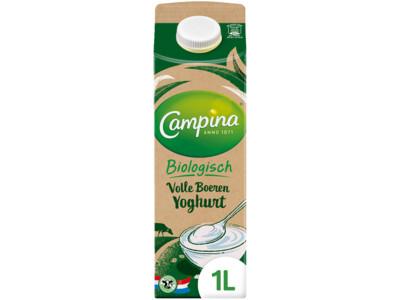 Biologisch volle yoghurt product foto