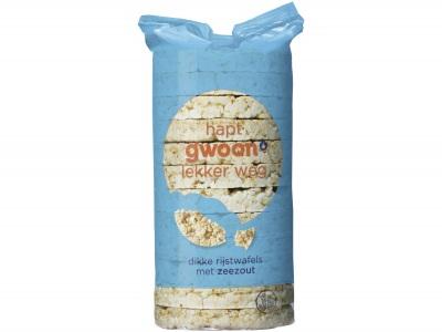 Rijstwafels met zeezout product foto
