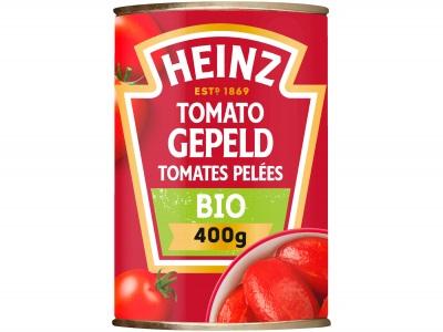 Gepelde tomaten bio product foto
