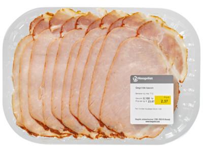 Gegrilde bacon product foto