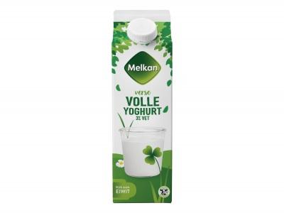 Volle yoghurt product foto