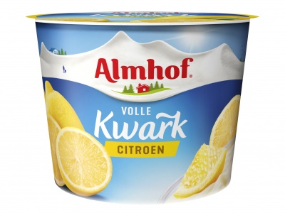 Volle kwark citroen product foto